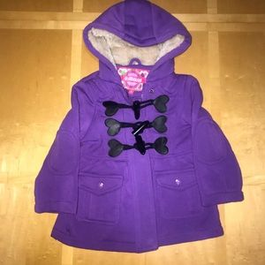 👧🏼 Purple Dollhouse Hooded Pea Coat